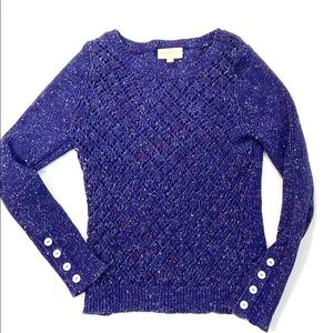 ModCloth Speckled Open Knit Sweater
